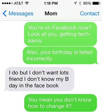 Facebook text 1