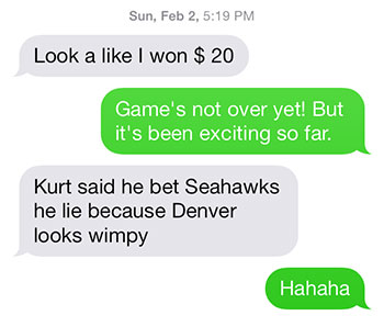 Mom thinks the Broncos look wimpy